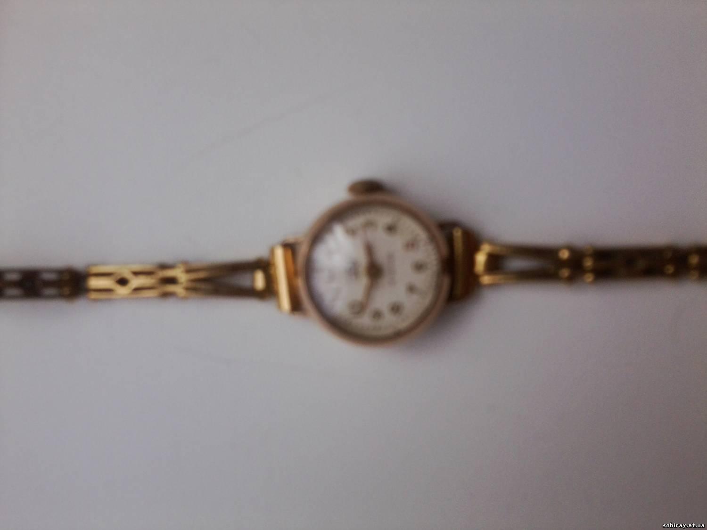 Нашёл женские часики (золотые) с браслетом за одно, 50 годов фирмы Заря